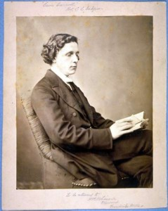 Lewis Carroll with Book