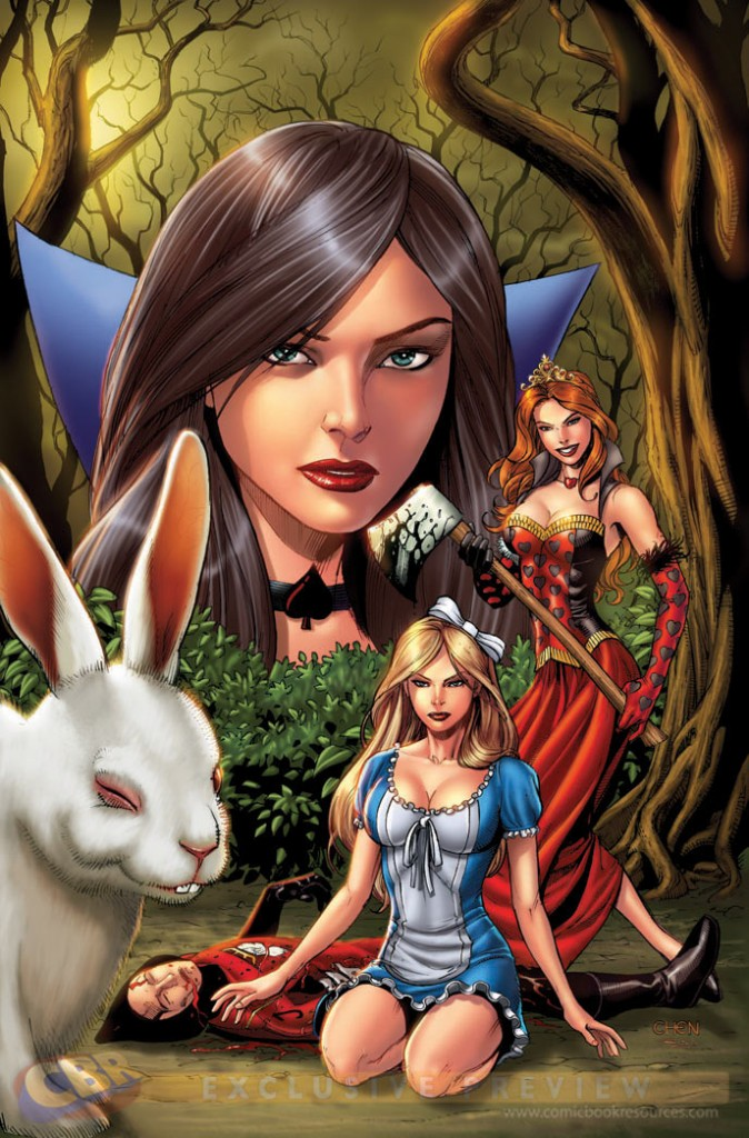 "Raven gregory writes a prequel to ""return to wonderland"" called"