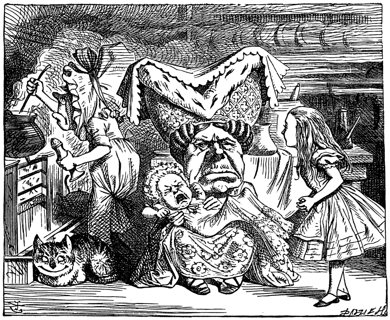 John Tenniel Pig and Pepper Ugly Duchess
