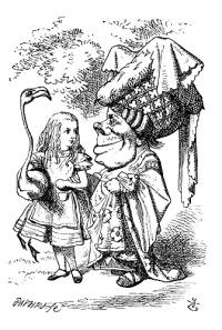 Duchess and Alice Walking