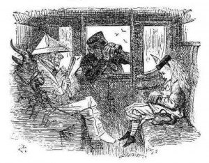 Tenniel Looking-Glass Train