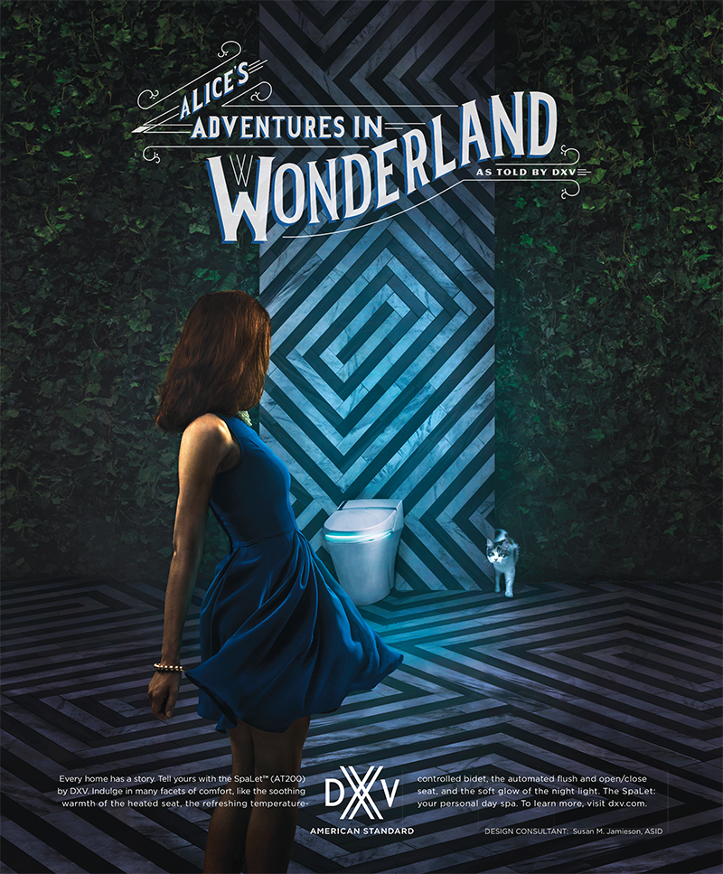 Alice in Wonderland Toilet Ad
