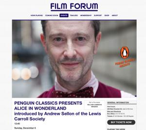Film Forum Wonderland Screening Promo Crop