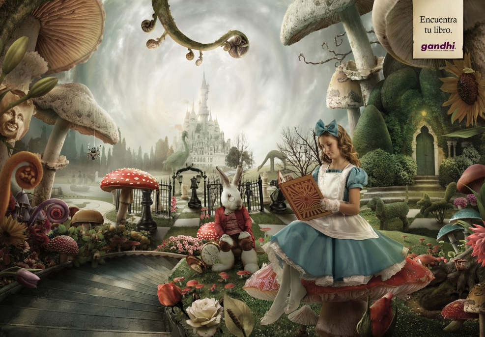 "Librerías Gandhi - ""Alice in Wonderland"" - Ogilvy & Mather, México"