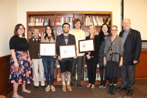 2018 USC Libraries Wonderland Award winners and judges (Photo by Anne-Marie Maxwell)