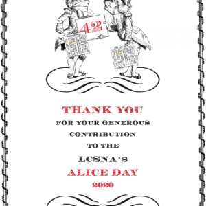 Alice Day 2020 Thank You