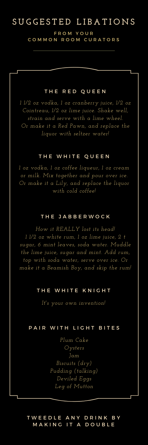 Suggested Libations