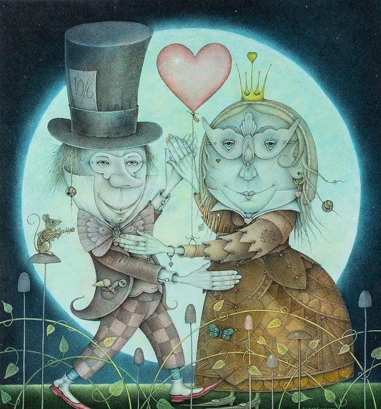 Hatter & Queen of Hearts (Wayne Anderson, 2010)