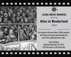 lewis carroll film screening